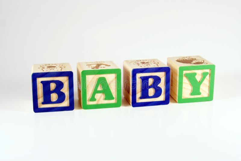 Blocos que soletram o bebê fotografia de stock royalty free