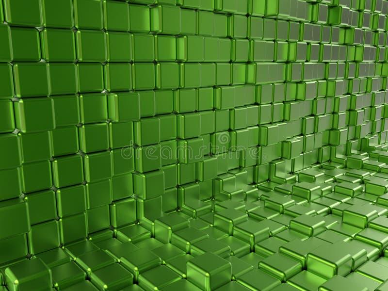 Blocos reflexivos verdes ilustração do vetor