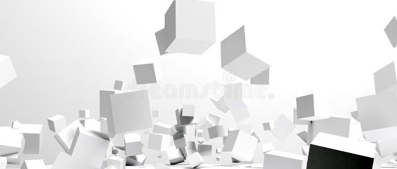 Blocs aléatoires de blanc illustration de vecteur
