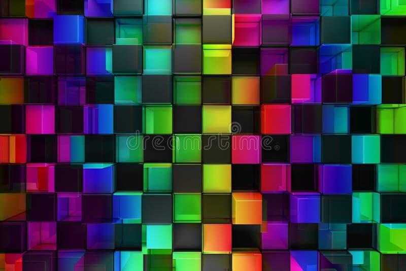 Blocs colorés illustration de vecteur