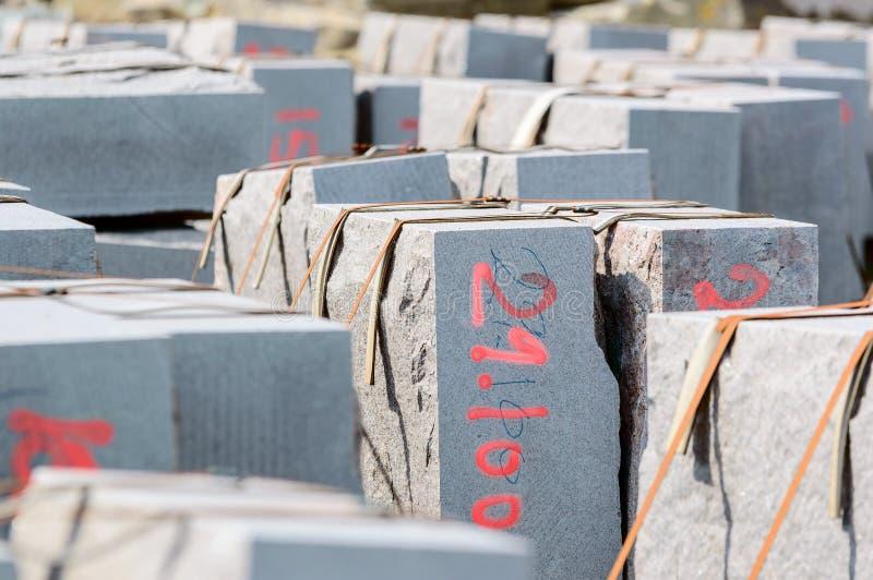 Blocs constitutifs de granit image stock
