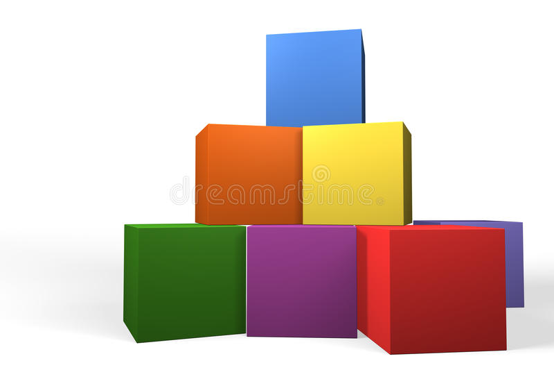 Blocs constitutifs formant une pyramide illustration libre de droits