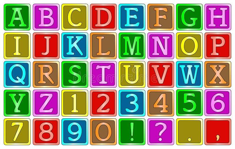 Blocs d'alphabet illustration stock