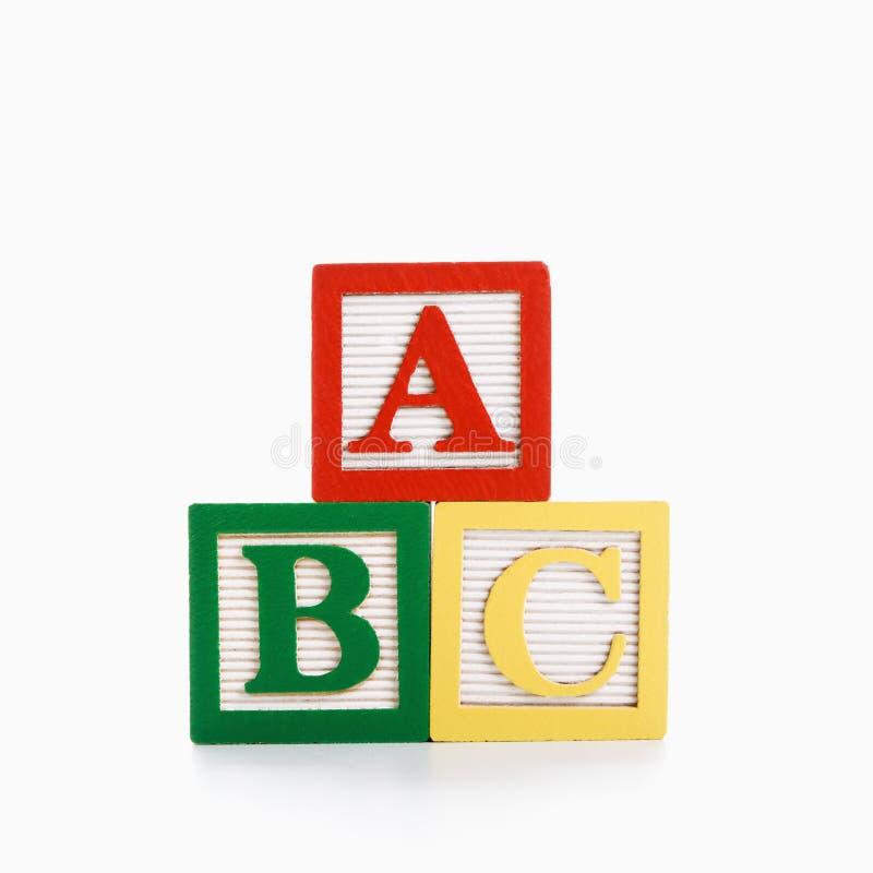 Blocs d'alphabet. photographie stock