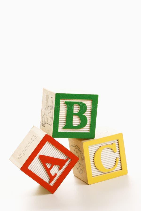 Blocs d'alphabet. images stock