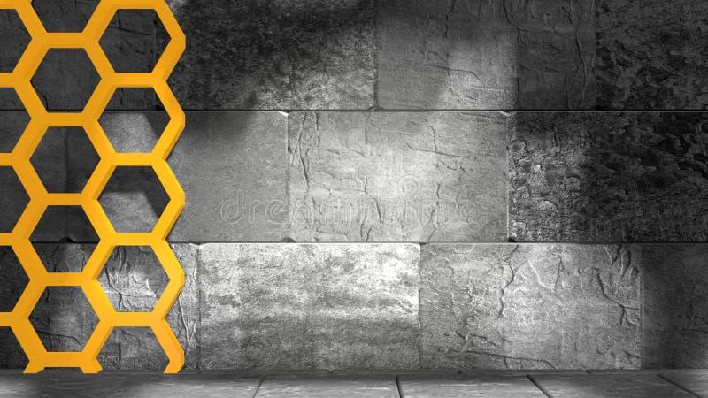Blocs de béton et nid d'abeilles images stock