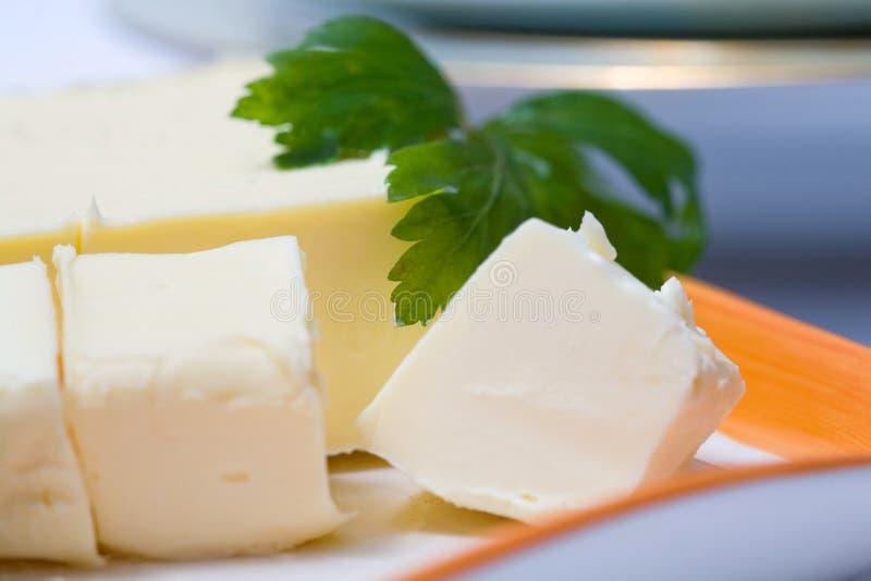 Blocs de beurre images stock