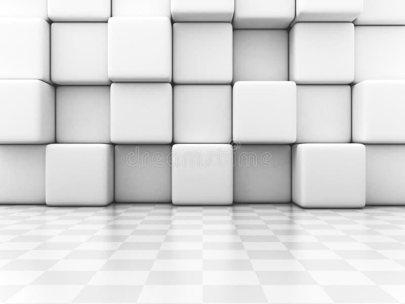 Blocs de blanc et fond d'abrégé sur mur de contrôleur illustration de vecteur