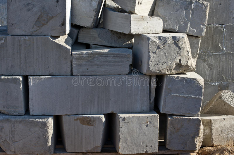 Blocs de ciment de mousse photo stock image du for Bloc ciment