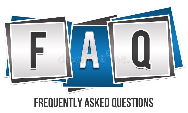 Blocs de FAQ 3 illustration stock