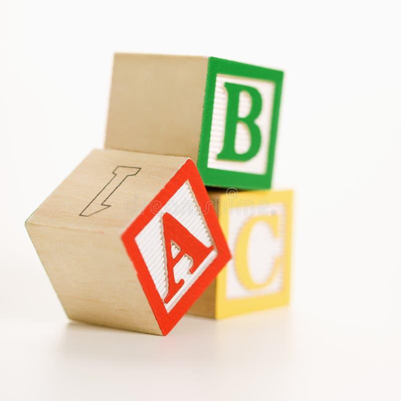 Blocs de jouet. image stock