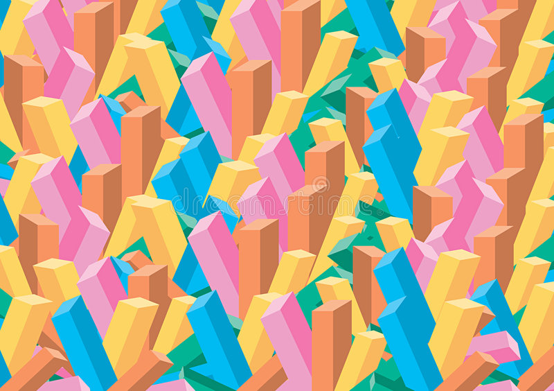 blocs de la couleur 3D illustration stock