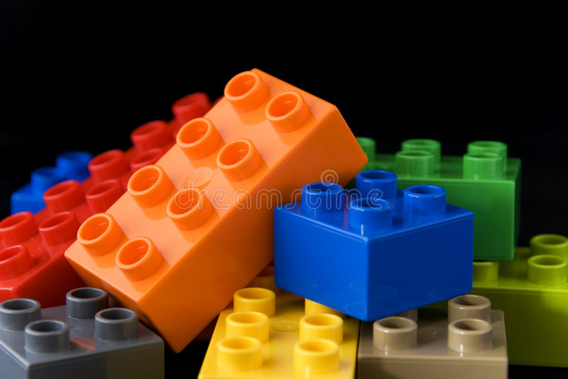 Blocs de lego de construction photos stock