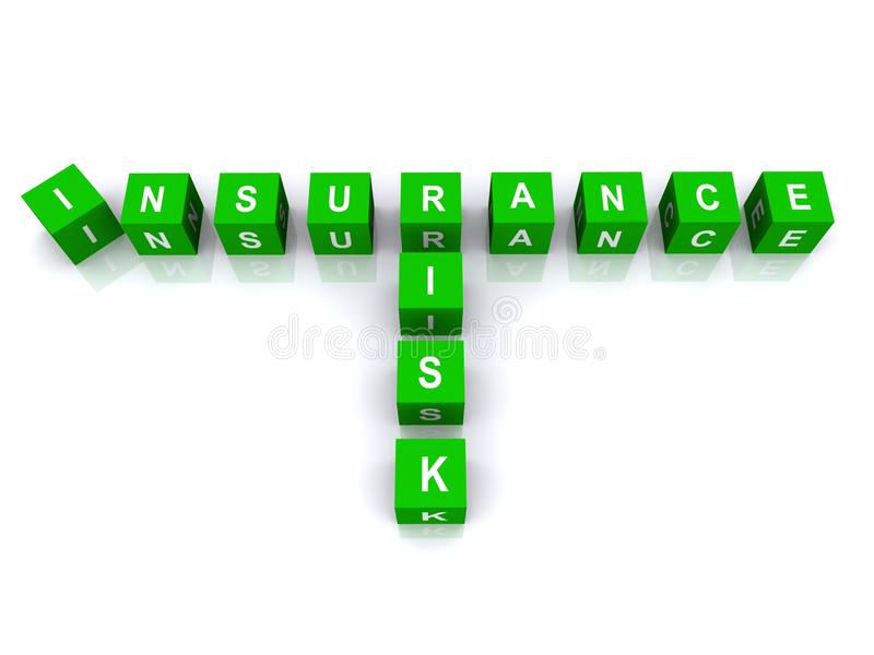 Blocs de risque d'assurance illustration de vecteur