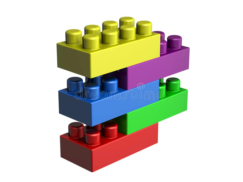 blocs du lego 3D photos stock