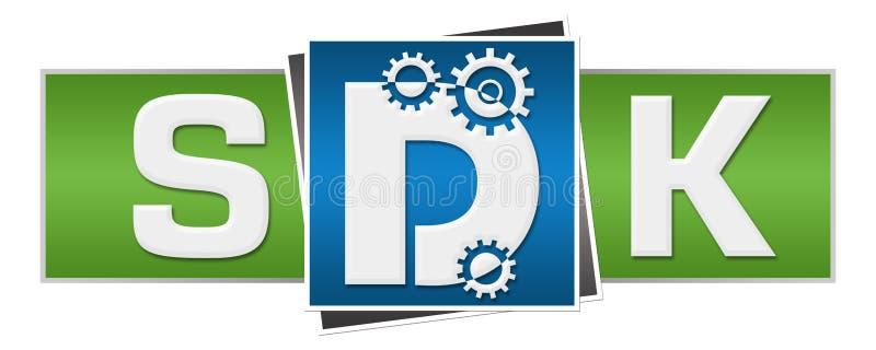 Blocs du vert bleu trois de SDK illustration stock
