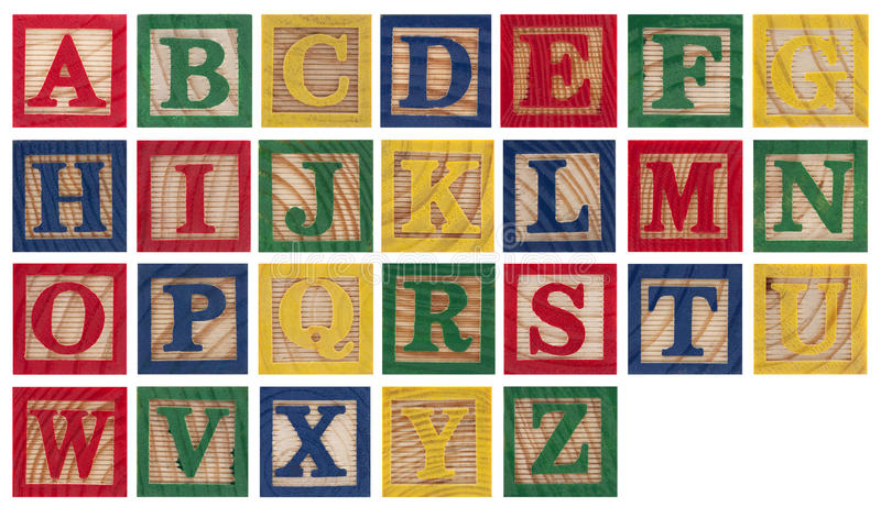 Blocs en bois d'alphabet photographie stock