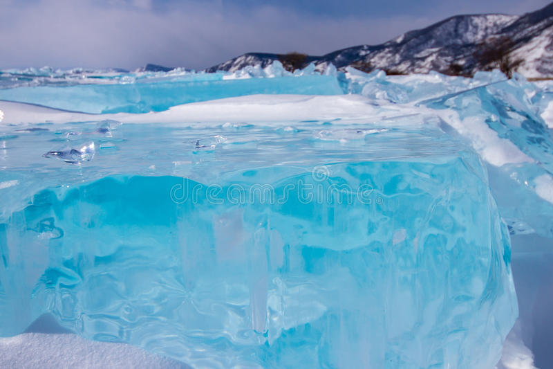 Blocs of ice royalty free stock photography