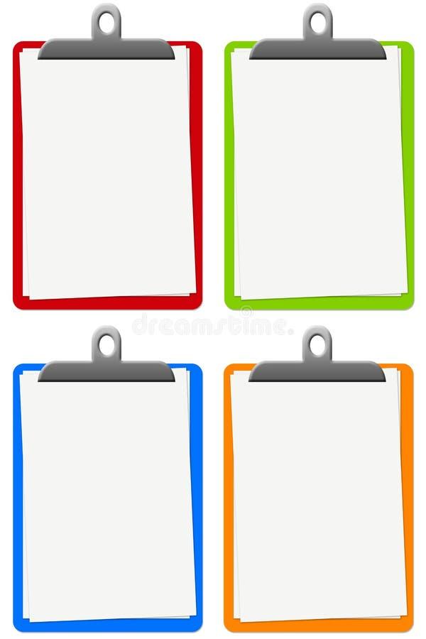 Blocs-notes colorés illustration libre de droits