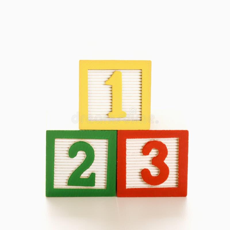 Blocs numérotés. photos libres de droits