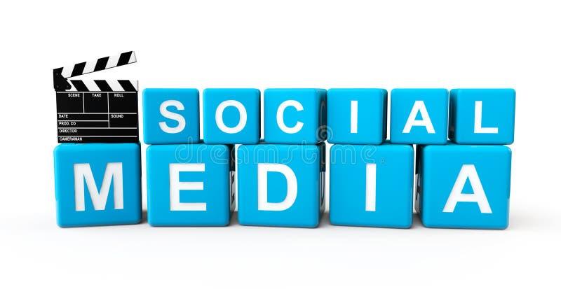 Blocs sociaux de media avec le bardeau illustration de vecteur