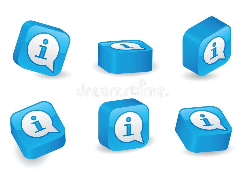 Blocs tridimensionnels d'information illustration de vecteur