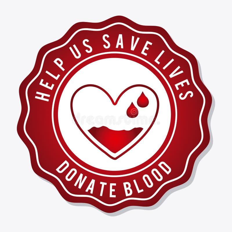 blod donerar vektor illustrationer