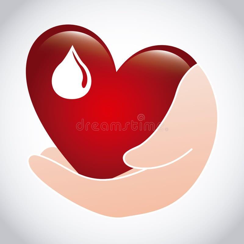 blod donerar stock illustrationer