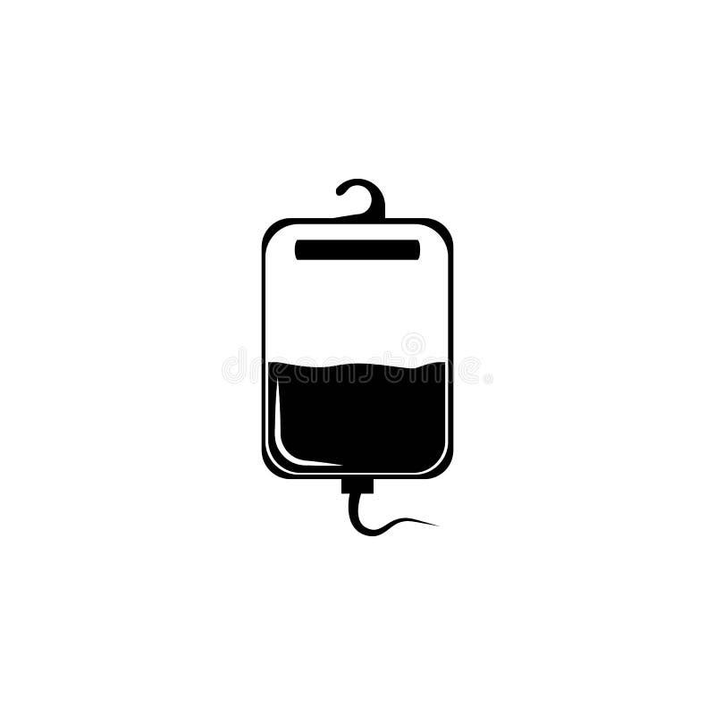 Blod för transfusionsymbol Beståndsdel av symboler för medicinska instrument Högvärdig kvalitets- symbol för grafisk design Tecke vektor illustrationer