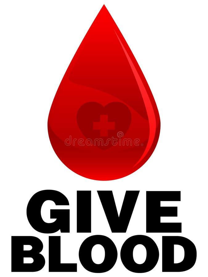blod ger sig stock illustrationer