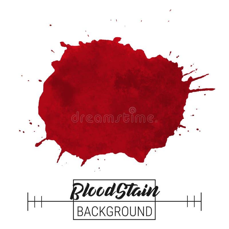 Blod plaskar fläckvektorn Blod plaskar fläcken och droppvektorn på vit bakgrund för text, försäljningen, baner royaltyfri illustrationer