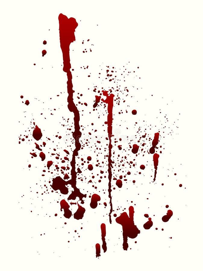 Blod stänker vektor illustrationer