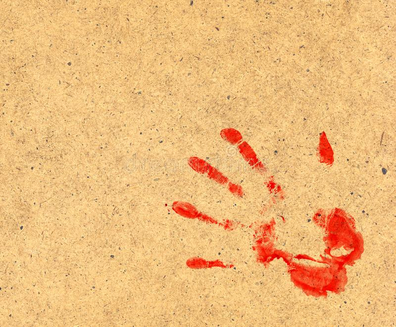 Bloda ner trycket arkivbild