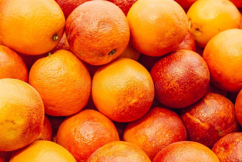 Blodapelsinbakgrund Röd Sicilian orange bakgrund royaltyfri foto