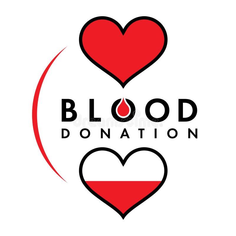 Bloddonation vektor illustrationer