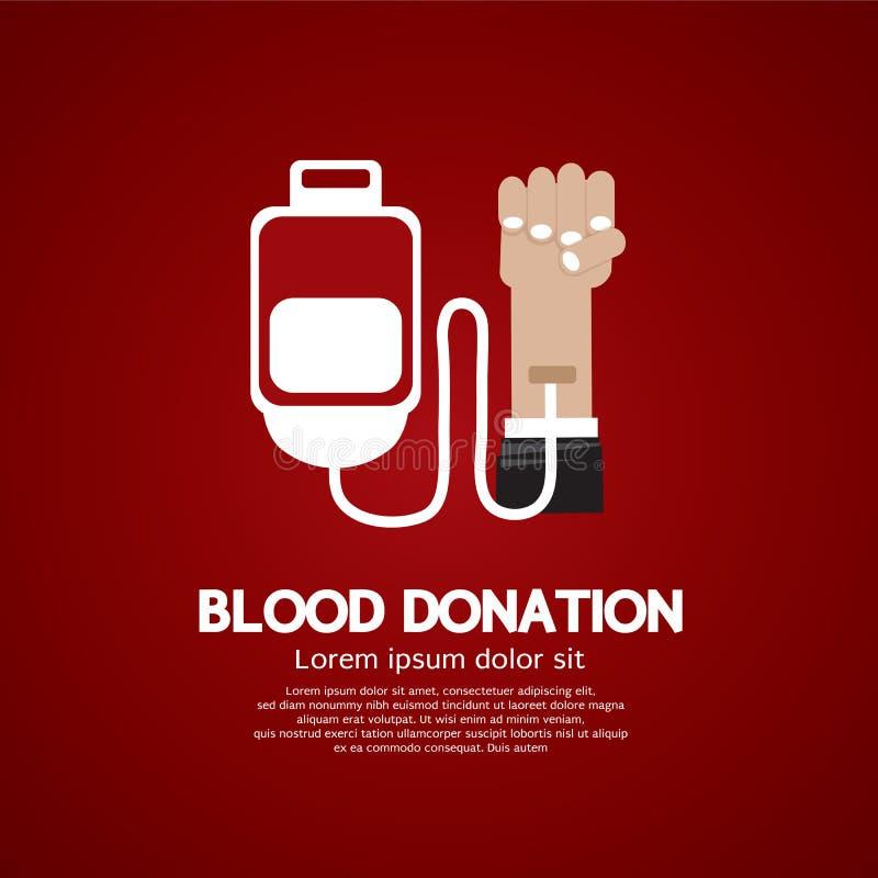 Bloddonation. royaltyfri illustrationer