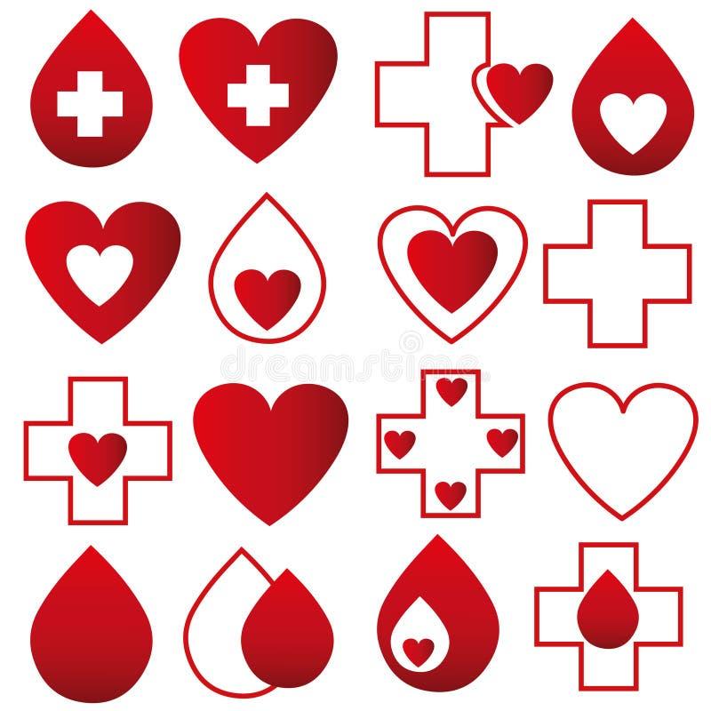 Bloddonation - vektor vektor illustrationer