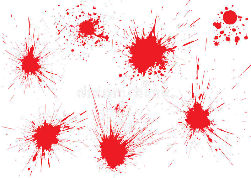 bloddroppar vektor illustrationer