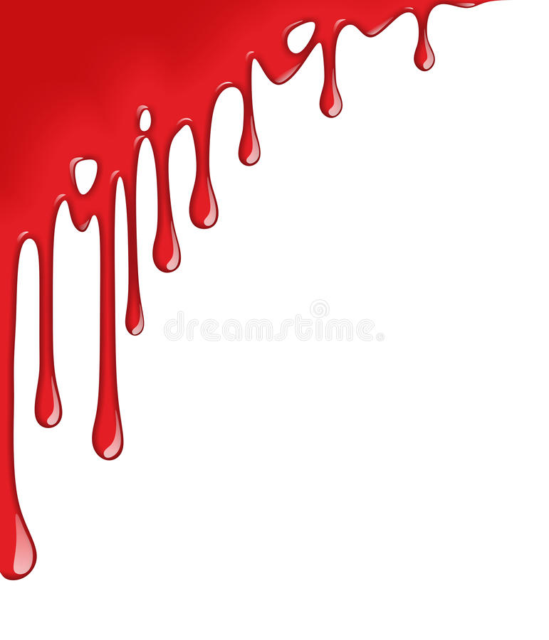 Bloddroppe royaltyfri illustrationer