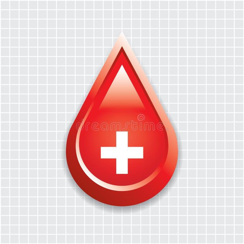 Bloddroppe med det medicinska korset. royaltyfri illustrationer