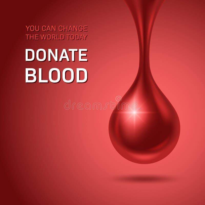 Blodgivaredag stock illustrationer