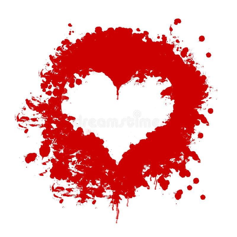 blodhjärta royaltyfri illustrationer