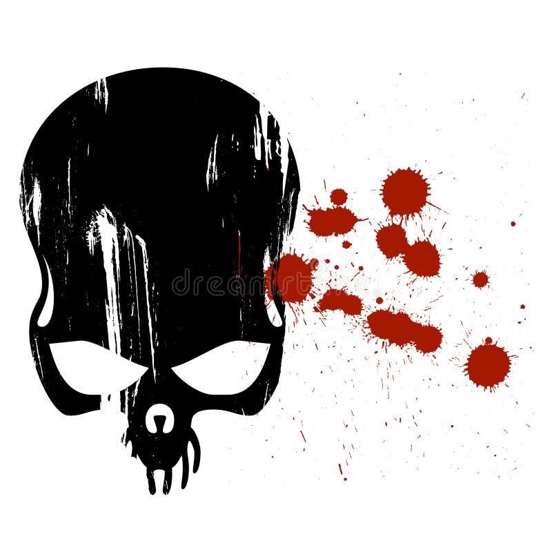 blodhumanskalle vektor illustrationer