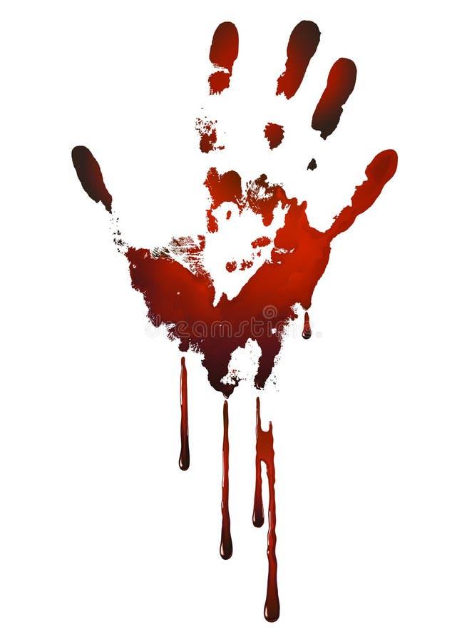 Blodig handprint royaltyfri illustrationer