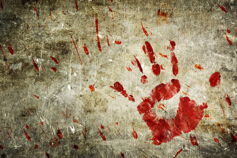 blodig vägg royaltyfri illustrationer