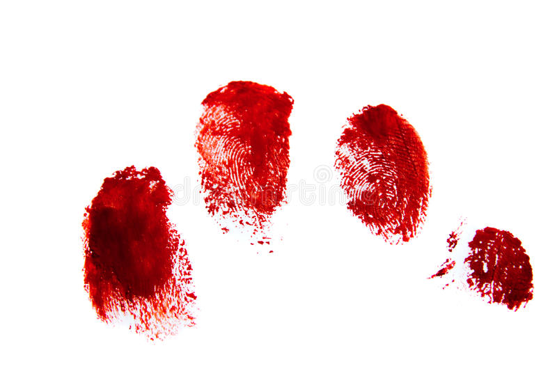 Blodiga röda fingeravtryck royaltyfria bilder