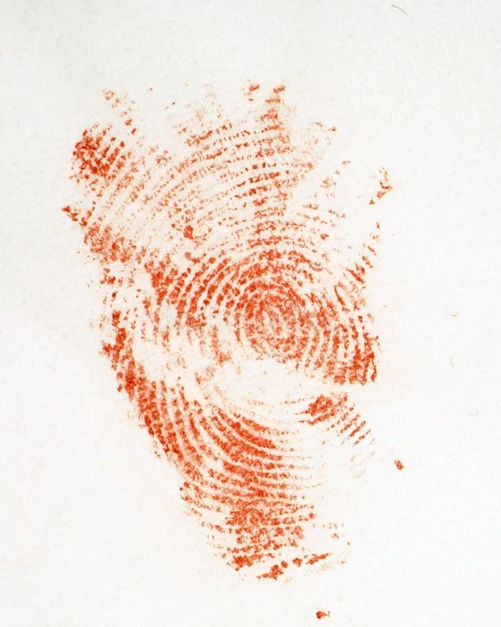 blodigt fingeravtryck royaltyfri fotografi