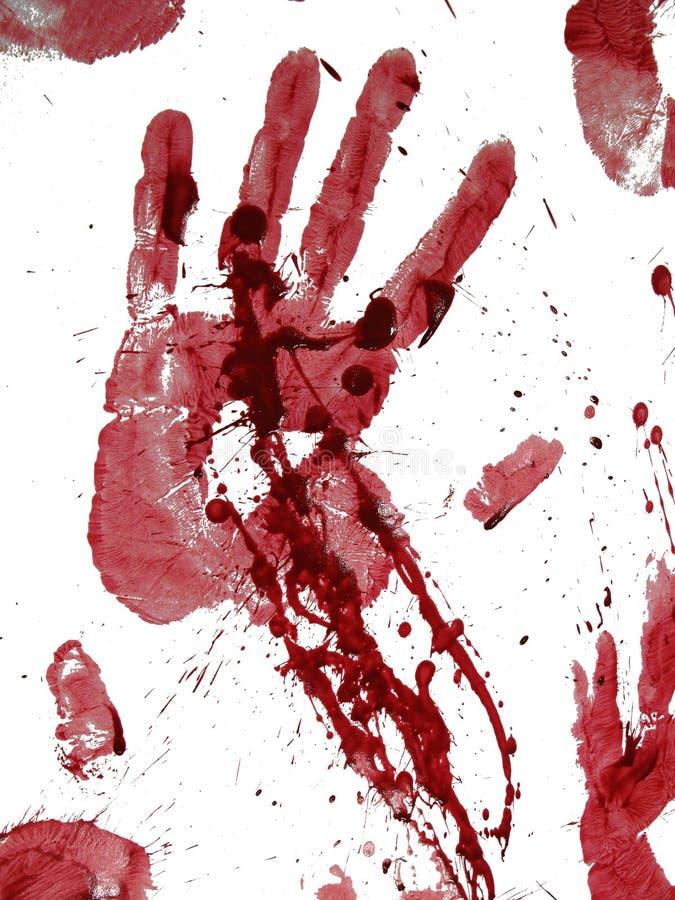 blodigt handtryck royaltyfri bild