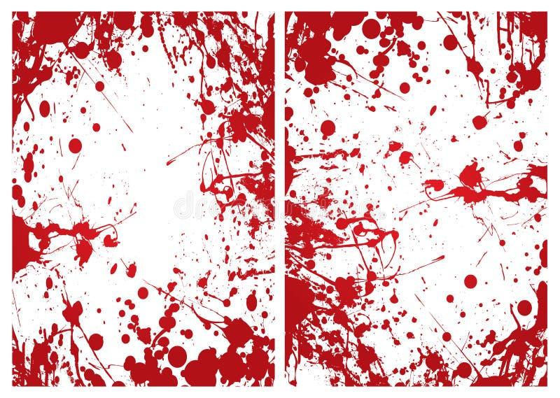 blodramsplat royaltyfri illustrationer