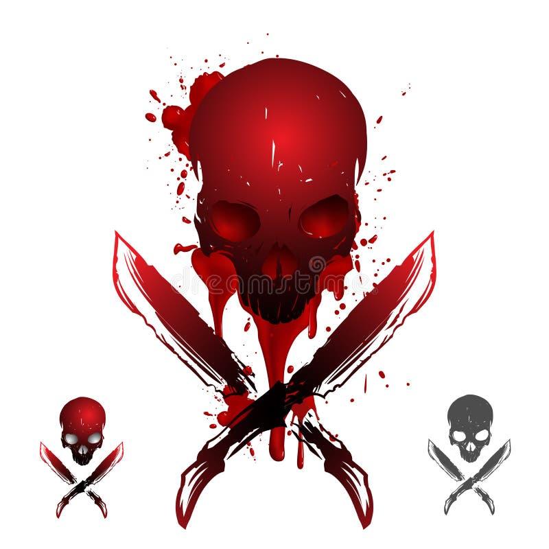 Blodskalleillustration stock illustrationer